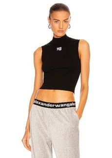 T by Alexander Wang Foundation Bodycon Logo Muscle Tank Top
