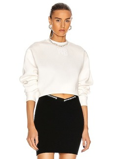 T by Alexander Wang Foundation Terry Crewneck Sweatshirt