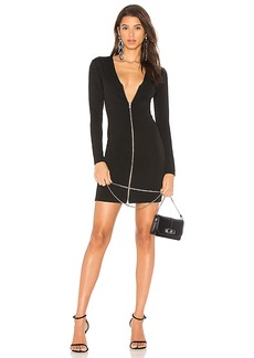 T by Alexander Wang Front Zip Mini Dress in Black. - size 0 (also in 2,4)