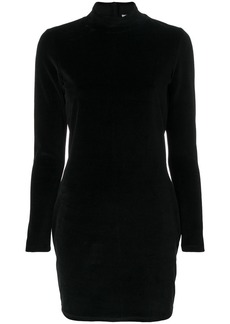 T By Alexander Wang funnel neck mini dres - Black