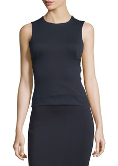 T by Alexander Wang High Lux Ponte Cutout Top