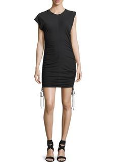 T by Alexander Wang High-Twist Jersey Mini Dress w/ Tie Sides