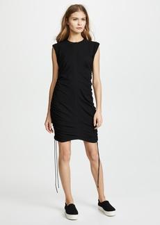 T by Alexander Wang High Twist Jersey Mini Dress with Side Ties