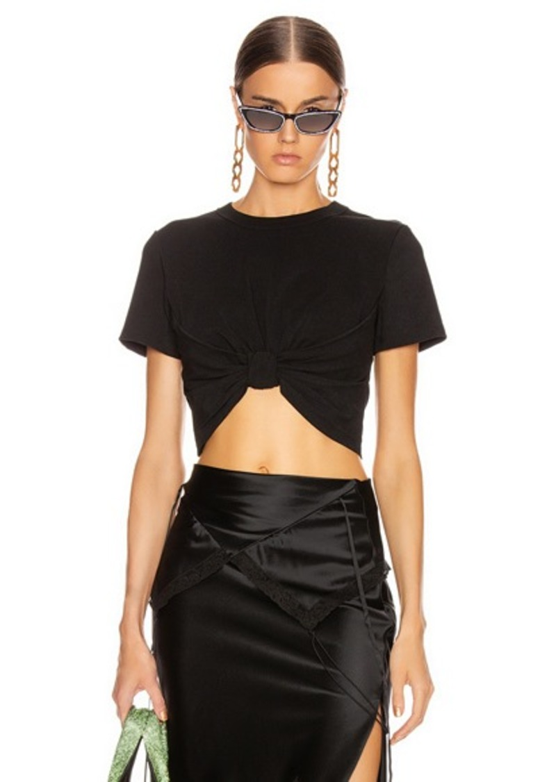 T by Alexander Wang High Twist Knot Crop Top