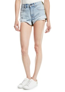 T by Alexander Wang Hikie Mix Hybrid Denim & Twill Low-Rise Shorts