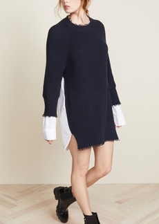 T by Alexander Wang Hybrid Varsity Sweater Dress