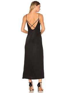 T by Alexander Wang Interlock Criss Cross Strap Dress in Black. - size L (also in M,S,XS)