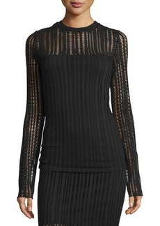 T by Alexander Wang Jacquard Long-Sleeve Top