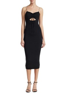 T by Alexander Wang Jersey Cut Out Midi Dress