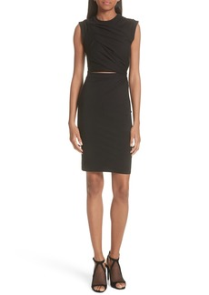 T by Alexander Wang Keyhole Twist Compact Jersey Dress