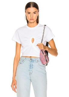 T by Alexander Wang Keyhole Twist Cropped Tee