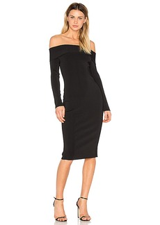 T by Alexander Wang Knit Off The Shoulder Dress in Black. - size M (also in S,XS)