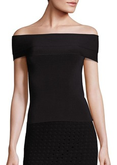 T by Alexander Wang Knit Off-the-Shoulder Top