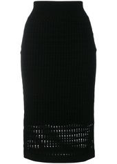 T By Alexander Wang knit pleated skirt - Black
