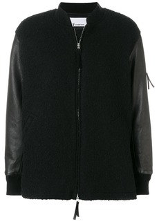 T By Alexander Wang knitted bomber jacket - Black