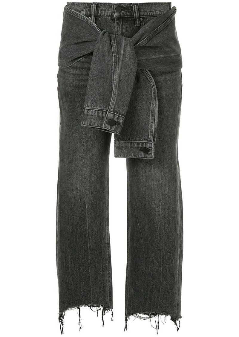 T by Alexander Wang knot detail jeans
