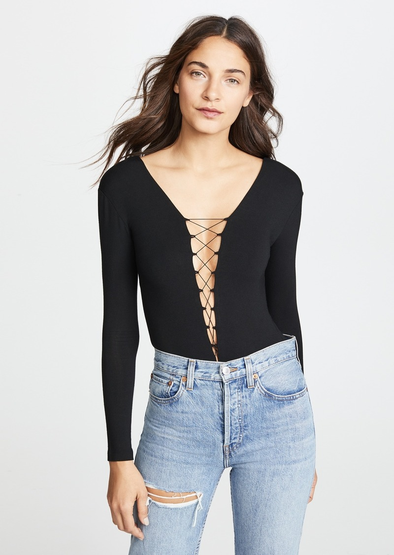 0bb5910a8d T by Alexander Wang T by Alexander Wang Lace Up Bodysuit