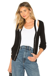 T by Alexander Wang Layered Fitted Cardigan