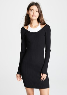 T by Alexander Wang Layered Mini Dress