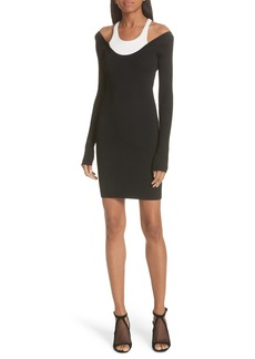 T by Alexander Wang Layered Racerback Sweater Dress
