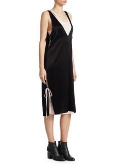 T by Alexander Wang Layered Satin Dress