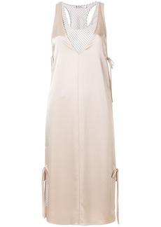T By Alexander Wang layered satin slip dress - Nude & Neutrals