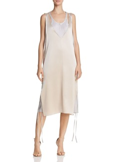 T by Alexander Wang Layered Satin Slip Dress