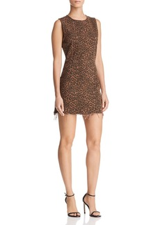 T by Alexander Wang Leopard-Print Mini Dress