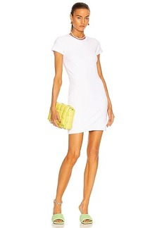 T by Alexander Wang Logo Crew Neck Mini Dress