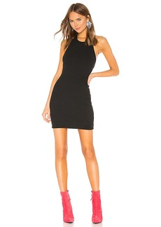 T by Alexander Wang Logo Patch Halter Dress