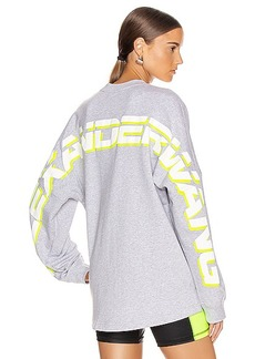 T by Alexander Wang Long Sleeve Logo Sweater