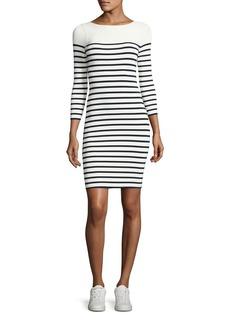 T by Alexander Wang Long-Sleeve Striped Mini Dress