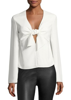 T by Alexander Wang Long-Sleeve Tie Front Shirt