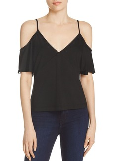 T by Alexander Wang Luxe Ponte Cold Shoulder Top