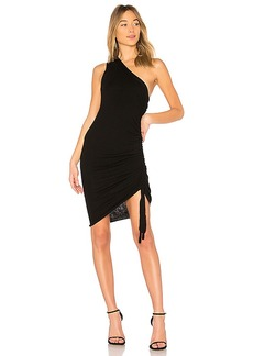 T by Alexander Wang Merino One Shoulder Dress in Black. - size L (also in M,S,XS)