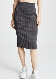 T by Alexander Wang Metallic Skirt