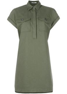 T By Alexander Wang military shirt dress - Green