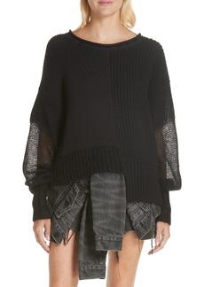 T by Alexander Wang Mix Knit Sweater
