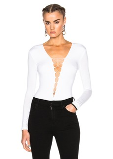 T by Alexander Wang Modal Spandex Lace Up Bodysuit