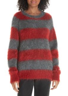 T by Alexander Wang Mohair Blend Stripe Sweater