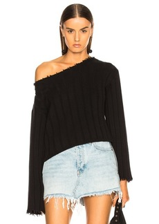 T by Alexander Wang Off Shoulder Sweater