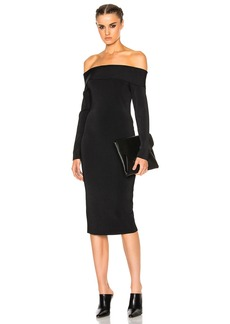 T by Alexander Wang Off The Shoulder Long Sleeve Dress