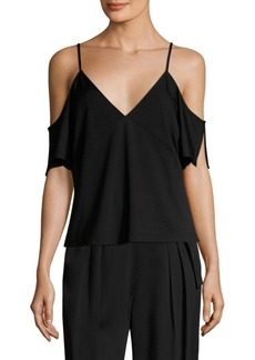 T by Alexander Wang Off-The-Shoulder Ponte Top