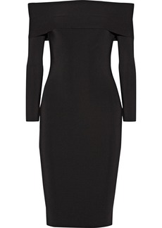 T by Alexander Wang Off-the-shoulder stretch-ponte dress