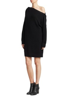 T by Alexander Wang Off-The-Shoulder Sweater Dress