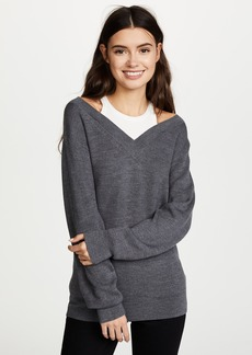T by Alexander Wang Off the Shoulder Sweater with Inner Tank
