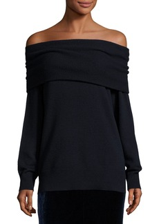 T by Alexander Wang Off-the-Shoulder Wool-Blend Sweater