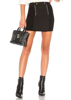 T by Alexander Wang Paneled Bodycon Mini Skirt