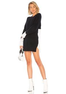 T by Alexander Wang Poplin Sweater Dress