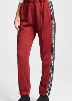 T by Alexander Wang Pull On Track Pants with Logo Tape